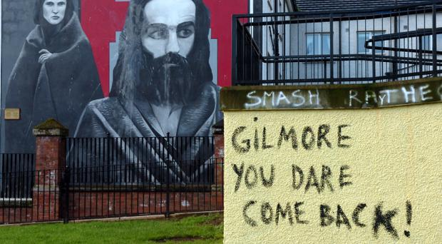 Anti-Raymond Gilmour graffiti in Londonderry's Bogside