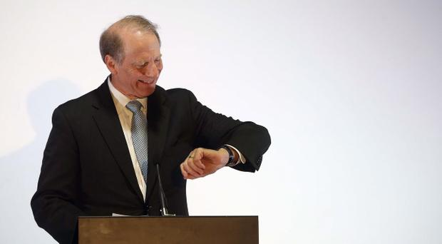 Dr Richard Haass gives a press conference at the Europa Hotel after he met with the five parties in the Northern Ireland Executive for a further round of talks