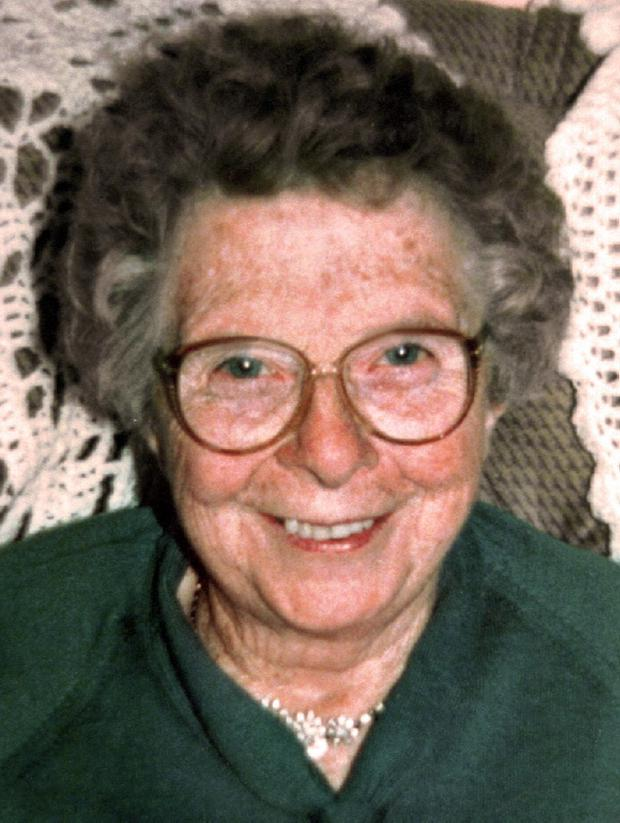 Roseann Mallon (76) from Dungannon was hit multiple times in the back, head and limbs when loyalist gunmen opened fire on a house in May 1994