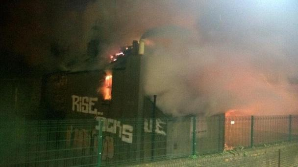 Fire has broken out close to Dublin's Connolly Station Pic Irish Rail