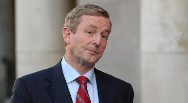 The Republic's government is going to call for a 'Yes' vote to gay marriage. Pictured: Taoiseach Enda Kenny