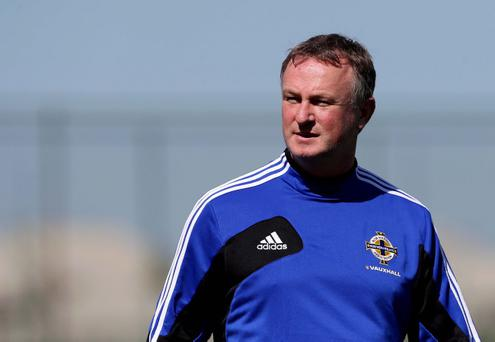 Northern Ireland manager Michael O'Neill has said he would find it 'interesting' were his team to face Martin O'Neill's Republic side in Euro 2016 qualifying