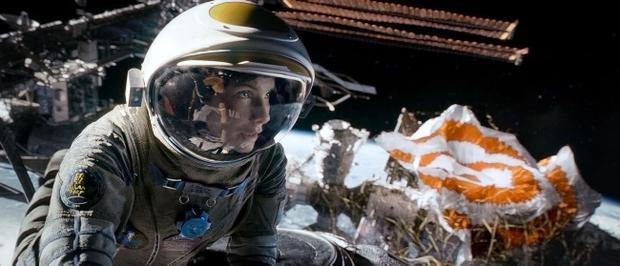 The Sandra Bullock (pictured) and George Clooney space epic Gravity makes other blockbusters look leaden
