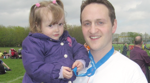David Montgomery from Portadown, whose wife Victoria died last year from leukaemia, not long after the birth of their daughter Rebecca.