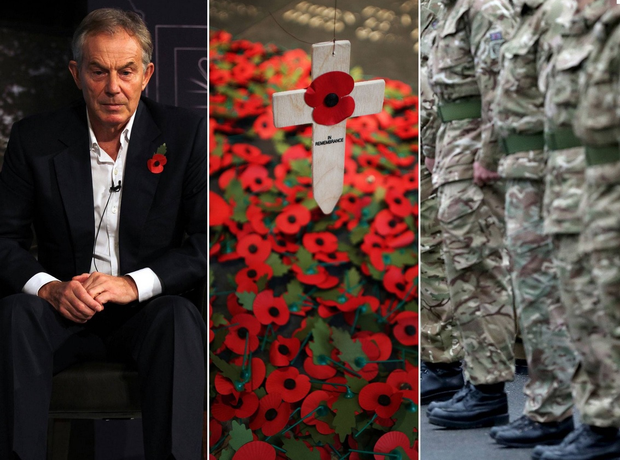 Even Tony Blair dares to wear a poppy – he who lied us into a war, which killed more people than the Battle of Mons.