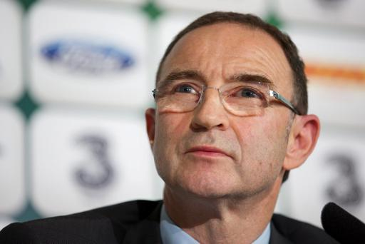 DUBLIN, IRELAND - NOVEMBER 09: Newly appointed Republic of Ireland manager Martin O'Neill during a press conference at Gibson Hotel on November 09, 2013 in Dublin, Ireland. (Photo by Patrick Bolger/Getty Images)