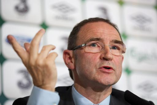 DUBLIN, IRELAND - NOVEMBER 09: Newly appointed Republic of Ireland manager Martin O'Neill speaks during a press conference at Gibson Hotel on November 09, 2013 in Dublin, Ireland. (Photo by Patrick Bolger/Getty Images)