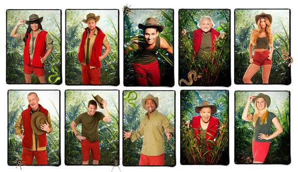 I'm A Celebrity 2013 contestants: (From top left) Lucy Pargeter, Kian Egan, Joey Essex, David Emmanuel, Amy Willerton, Matthew Wright, Steve Davis, Alfonso Ribeiro, Laila Morse, Rebecca Adlingto. Pic ITV