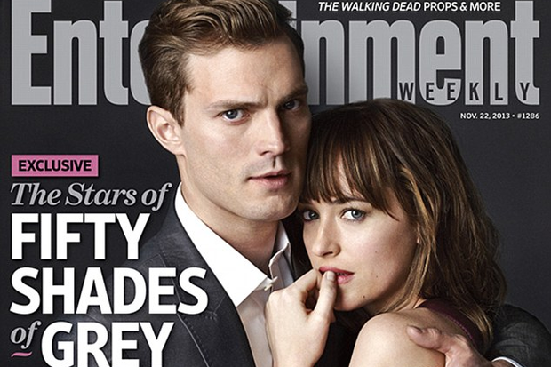 Jamie Dornan as Christian Grey and Dakota Johnson as Anastasia Steele in the first cast photos from the Fifty Shades of Grey movie. Photo by Frank Ockenfels for Entertainment Weekly