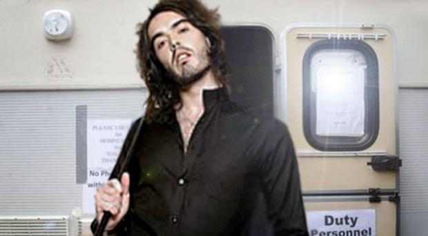 How it might have looked: Russell Brand visits the Twaddell Avenue protest camp
