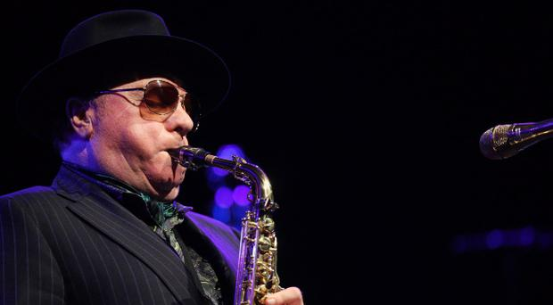 Van Morrison performs at the ceremony marking the Freedom of the City of Belfast being conferred on the world famous musician. Pic by Kelvin Boyes / Press Eye.
