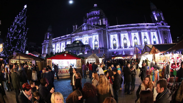 Belfast's Christmas market at City Hall
