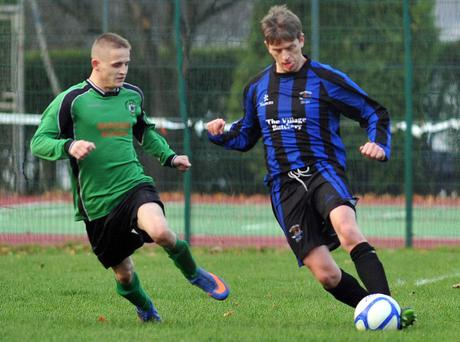Action from Holywood v Ballywalter Rec, November 16