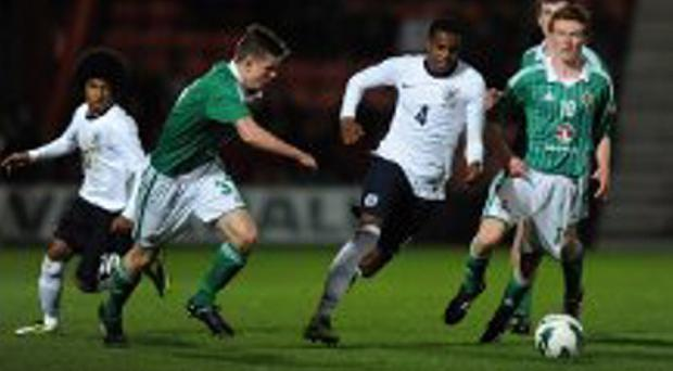 Action from Northern Ireland's recent Victory Shield win over England