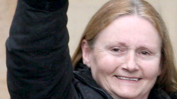 Marian 'Price' McGlinchey walked free from court today after being given a suspended sentence for two terrorist offences