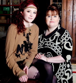 Family support: Janet Devlin with her mum Pat
