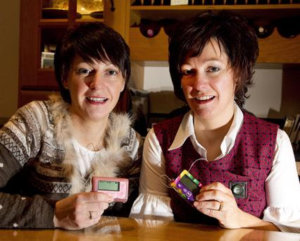 Close bond: Siobhan Reel (right) with her twin Sharon McKiverigan