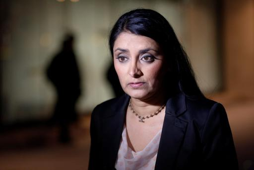 Aneeta Prem, founder of Freedom Charity which helped to rescue three women from a house in south London who were held as slaves for 30 years. (AP Photo/Sang Tan)