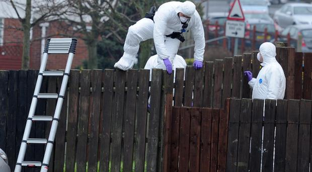 A 79-year-old man has been arrested in connection with the shooting of a 50 year old man in park head Crescent, Newry Co Down. He was shot in the stomach and knee. Photo Presseye/Declan Roughan