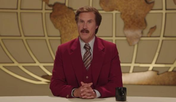 Anchorman Ron Burgundy issues a special address on Ireland's Late Late Toy Show