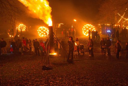 Fire Garden by Compagnie Carabosse which has tranformed St. Columb's Park into a visual delight as part of the four day Lumiere Festival of light. Picture Martin McKeown