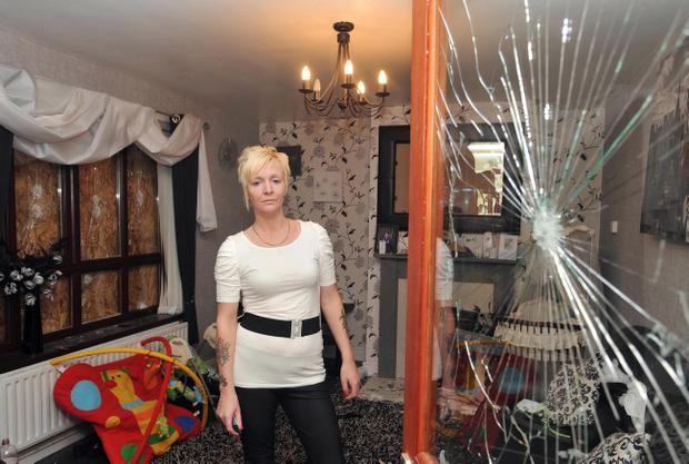 Tracey Coulter pictured in 2009 following an attack on her home