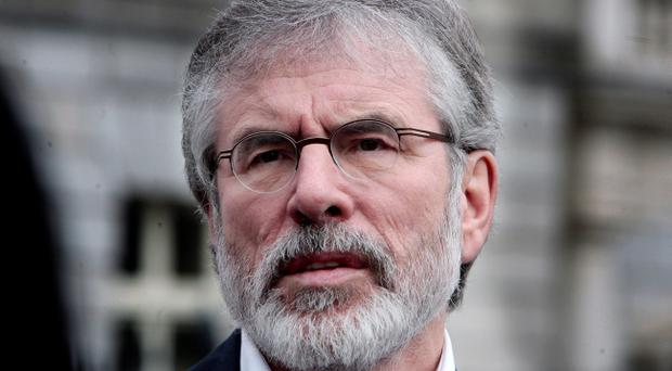 Gerry Adams said there was 'failure to protect the RUC operatives'