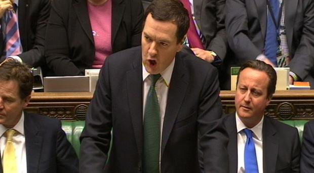 Chancellor of the Exchequer George Osborne delivers his Autumn Statement to MPs in the House of Commons, central London