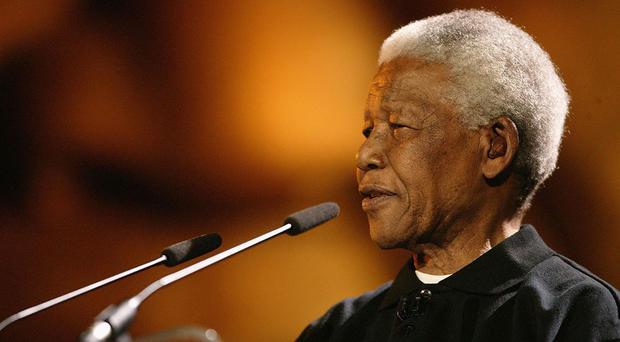 CAPE TOWN, SOUTH AFRICA - NOVEMBER 29: Nelson Mandela makes a speech at the