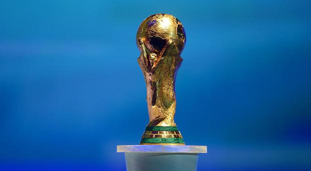 The FIFA World Cup Trophy during the FIFA 2014 World Cup Draw at the Costa Do Sauipe, Bahia, Brazil.