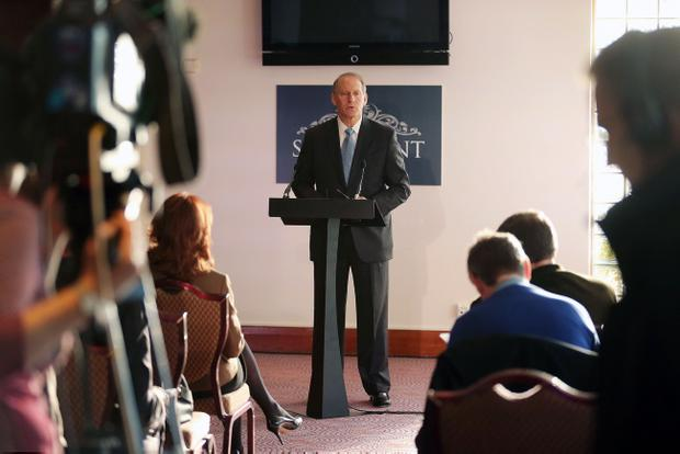 Richard Haass pictured at the Stormont Hotel in Belfast last week. Pic Kelvin Boyes
