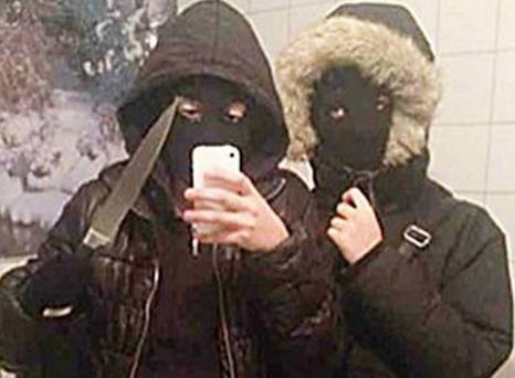 A teenage girl in Sweden has been convicted of robbery after taking a pre-crime selfie wielding a knife Swedish Police
