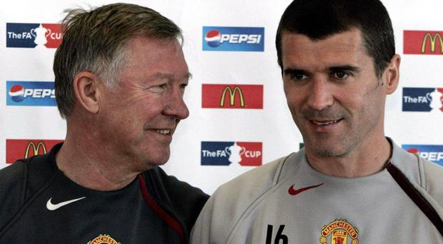 File photo dated 18/05/2005 of Manchester United manager Sir Alex Ferguson and captain Roy Keane
