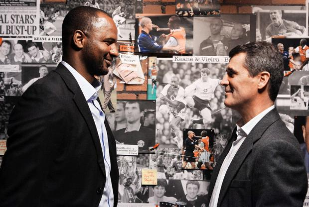 Roy Keane (right) and Patrick Vieira take part in the ITV programme
