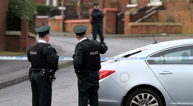 The scene in north Belfast after a gun attack on police officers last Thursday evening