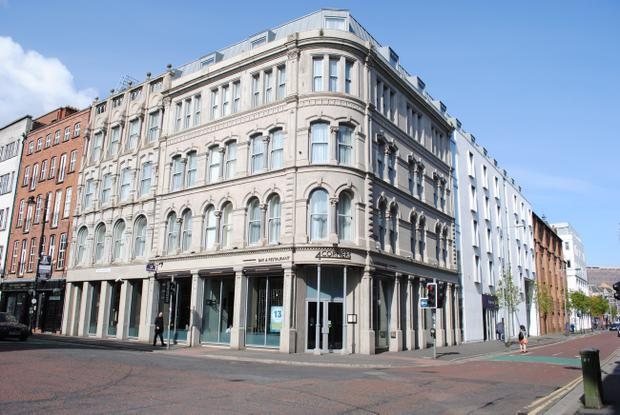 A Premier Inn in Belfast's Cathedral Quarter has been sold for £9m, two years after the company which built it went bust