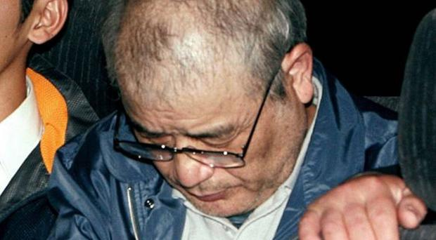 Ryoji Kagayama, seen here in 2008, has been hanged in Japan. It brings the number of prisoners executed since the conservative government of Shinzo Abe came to power a year ago to eight AFP/Getty Images