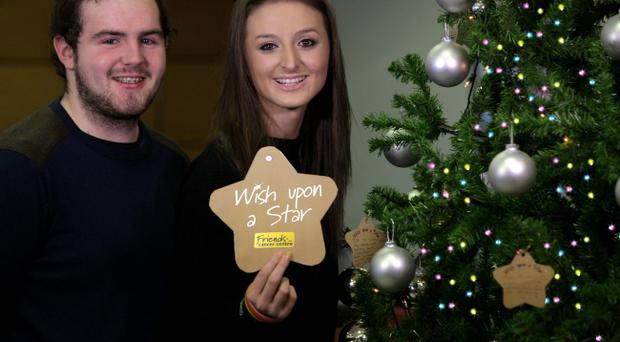 Amy Uprichard (16) from Lurgan and Jarlath Nicholl (18) from Coalisland, launch Friends of the Cancer Centres Wish Upon a Star appeal