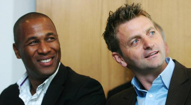 Former Tottenham Hotspur players Tim Sherwood (right) and Les Ferdinand are taking charge as the club searches for a new permanent manager