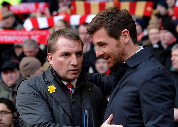 Brendan Rodgers (left) with Andre Villas-Boas. The former is happy not to have got the job at White Hart Lane