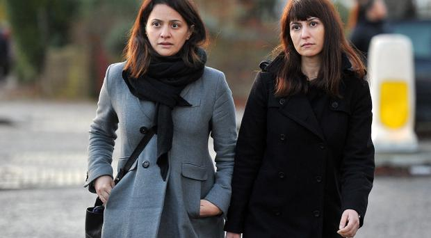 ISLEWORTH, ENGLAND - DECEMBER 19: Elisabetta Grillo (L) and Francesca Grillo have been cleared of committing fraud by abusing their positions as PAs to Charles Saatchi and his ex-wife Nigella Lawson