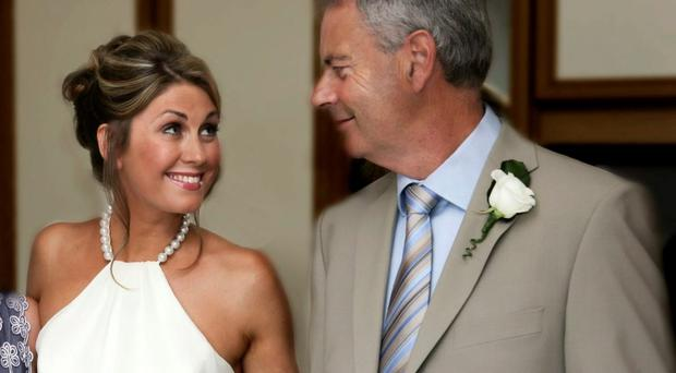 Sarah Travers with proud dad Ian on her wedding day