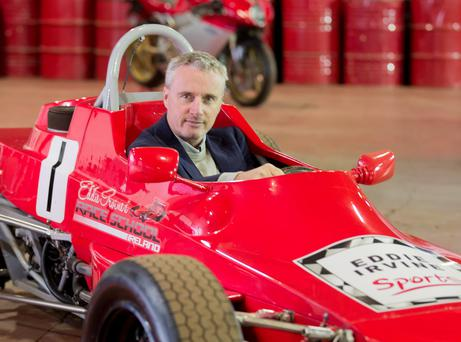 Eddie Irvine at his new racing school, just launched as part of his acquisition of the long standing and prestigious Race School Ireland.