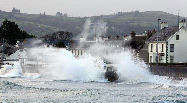 High winds and sea battered Northern Ireland earlier this month