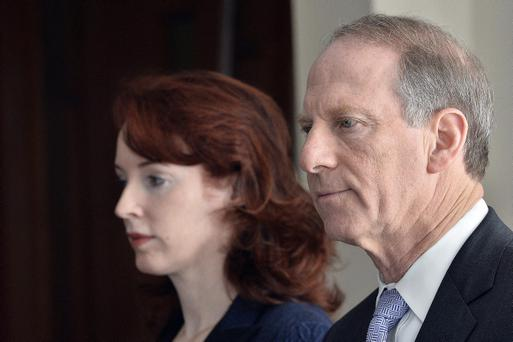 Dr Richard Haass and Professor Meghan O'Sullivan pictured at the Stormont hotel in Belfast after their Christmas break. Pic Stephen Hamilton/Presseye