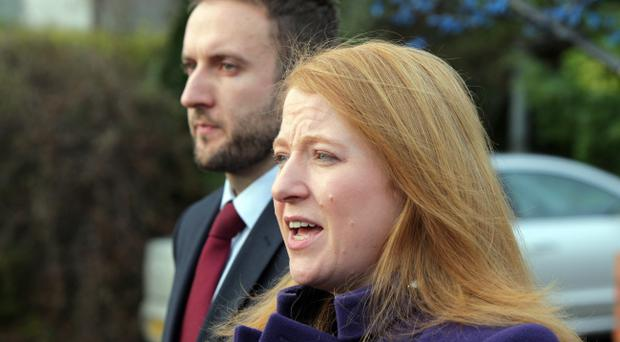 Naomi Long pictured at the Stormont Hotel after meeting with Dr Richard Haass