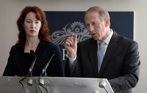 Former US Diplomat Dr Richard Haass and Harvard Professor Meghan O'Sullivan pictured back in Belfast for one last throw of the dice as they met once again with the local political parties regarding the flag issues and parading amongst other problems. Picture Charles McQuillan/Pacemaker.
