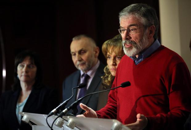 Sinn Fein president Gerry Adams expressed his party's disappointment that the issue of the Maze development was not advanced