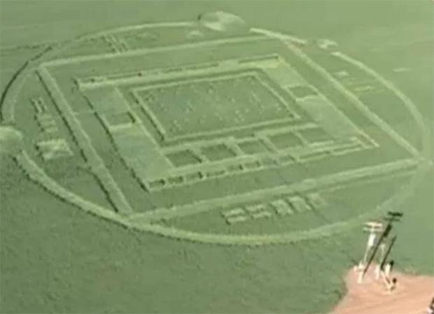 The crop circle appeared in the early hours of Sunday 29 December