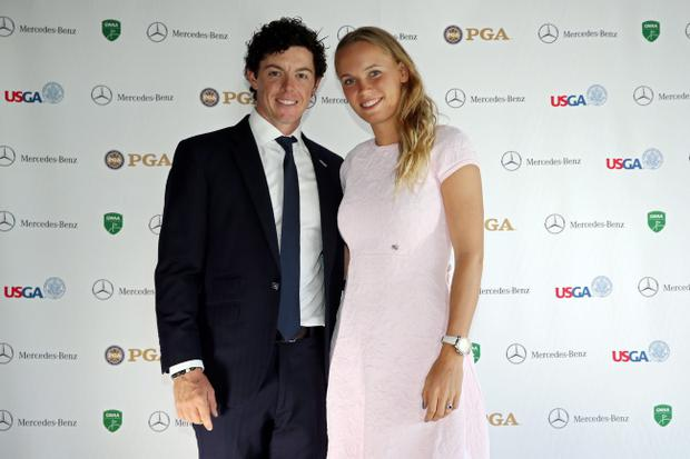 Golfer Rory McIIroy and tennis player Caroline Wozniacki announced their engagement on Twitter